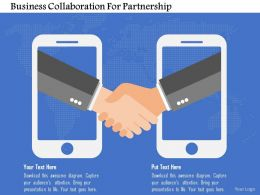 Business Collaboration For Partnership Flat Powerpoint Design