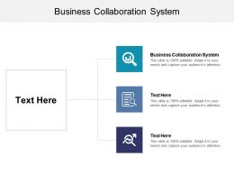 Business Collaboration System Ppt Powerpoint Presentation Styles Shapes Cpb