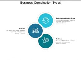 Business Combination Types Ppt Powerpoint Presentation Gallery Show Cpb
