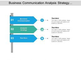Business Communication Analysis Strategy Competitive Strategy Stress Management Cpb