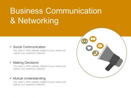 Business Communication And Networking Powerpoint Presentation