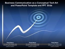 Business Communication As A Conceptual Tech Art And Powerpoint Template And Ppt Slide