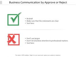 Business Communication By Approve Or Reject