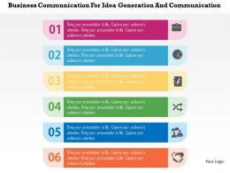 Business Communication For Idea Generation And Communication Flat Powerpoint Design