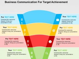 Business Communication For Target Achievement Flat Powerpoint Design