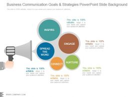 Business Communication Goals And Strategies Powerpoint Slide Background