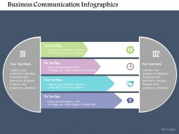 Business Communication Infographics Flat Powerpoint Design
