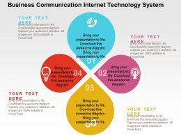 Business Communication Internet Technology System Flat Powerpoint Design