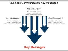 Business Communication Key Messages Example Of Ppt Presentation