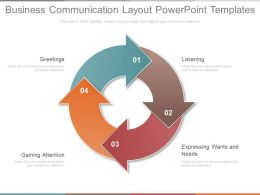 Business Communication Layout Powerpoint Templates