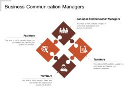 Business Communication Managers Ppt Powerpoint Presentation File Design Templates Cpb