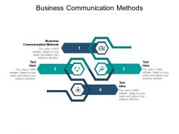 Business Communication Methods Ppt Powerpoint Presentation File Inspiration Cpb