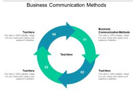 Business Communication Methods Ppt Powerpoint Presentation Portfolio Objects Cpb