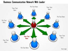 Business Communication Network With Leader Image Graphics For Powerpoint