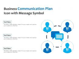 Business Communication Plan Icon With Message Symbol