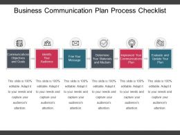 Business Communication Plan Process Checklist Example Of Ppt