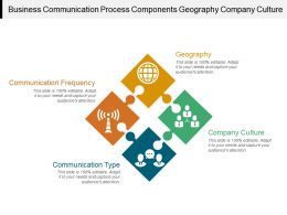 Business Communication Process Components Geography Company Culture