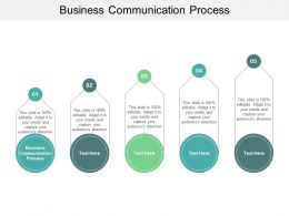 Business Communication Process Ppt Powerpoint Presentation Infographic Template Cpb