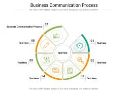 Business Communication Process Ppt Powerpoint Presentation Show Cpb
