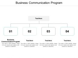 Business Communication Program Ppt Powerpoint Presentation Outline Guidelines Cpb