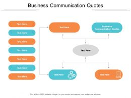 Business Communication Quotes Ppt Powerpoint Presentation Deck Cpb