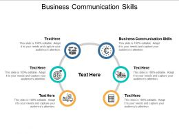 Business Communication Skills Ppt Powerpoint Presentation File Model Cpb