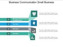 Business Communication Small Business Ppt Powerpoint Presentation Summary Maker Cpb