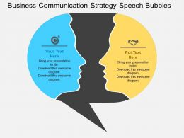 Business Communication Strategy Speech Bubbles Flat Powerpoint Design