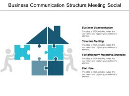 Business Communication Structure Meeting Social Network Marketing Strategies Cpb