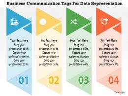 Business Communication Tags For Data Representation Flat Powerpoint Design