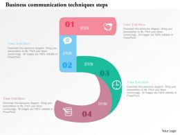 Business Communication Techniques Steps Flat Powerpoint Design