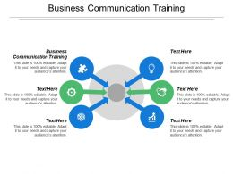 Business Communication Training Ppt Powerpoint Presentation Model Example Cpb
