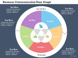 Business Communication Venn Graph Flat Powerpoint Design