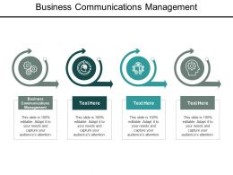 Business Communications Management Ppt Powerpoint Presentation Outline Diagrams Cpb