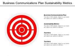 Business Communications Plan Sustainability Metrics Corporate Strategy Model Cpb