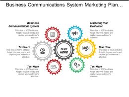 Business Communications System Marketing Plan Evaluation Talent Pipeline