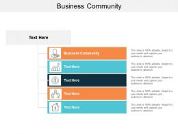 Business Community Ppt Powerpoint Presentation Gallery Ideas Cpb