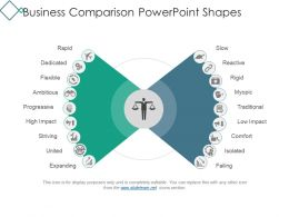 Business Comparison Powerpoint Shapes