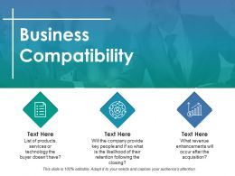 Business Compatibility Ppt Slides Show