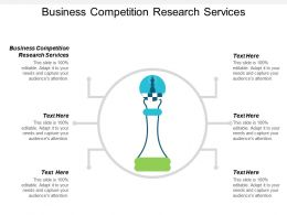 Business Competition Research Services Ppt Powerpoint Presentation File Ideas Cpb
