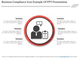 Business Compliance Icon Example Of Ppt Presentation
