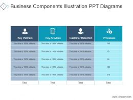 Business Components Illustration Ppt Diagrams
