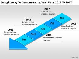 Business Concept Diagram Straightaway To Demonstrating Year Plans 2013 2017 Powerpoint Slides