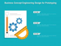 Business Concept Engineering Design For Prototyping