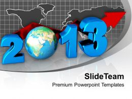 business_concept_new_year_2013_globe_powerpoint_templates_ppt_backgrounds_for_slides_0113_Slide01
