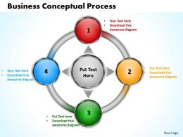 business conceptual process powerpoint templates graphics slides 0712