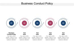 Business Conduct Policy Ppt Powerpoint Presentation Infographic Cpb