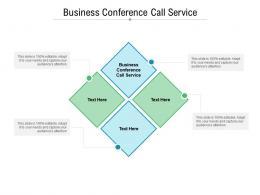 Business Conference Call Service Ppt Powerpoint Presentation Portfolio Portrait Cpb