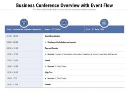 Business Conference Overview With Event Flow