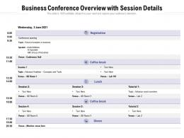 Business Conference Overview With Session Details